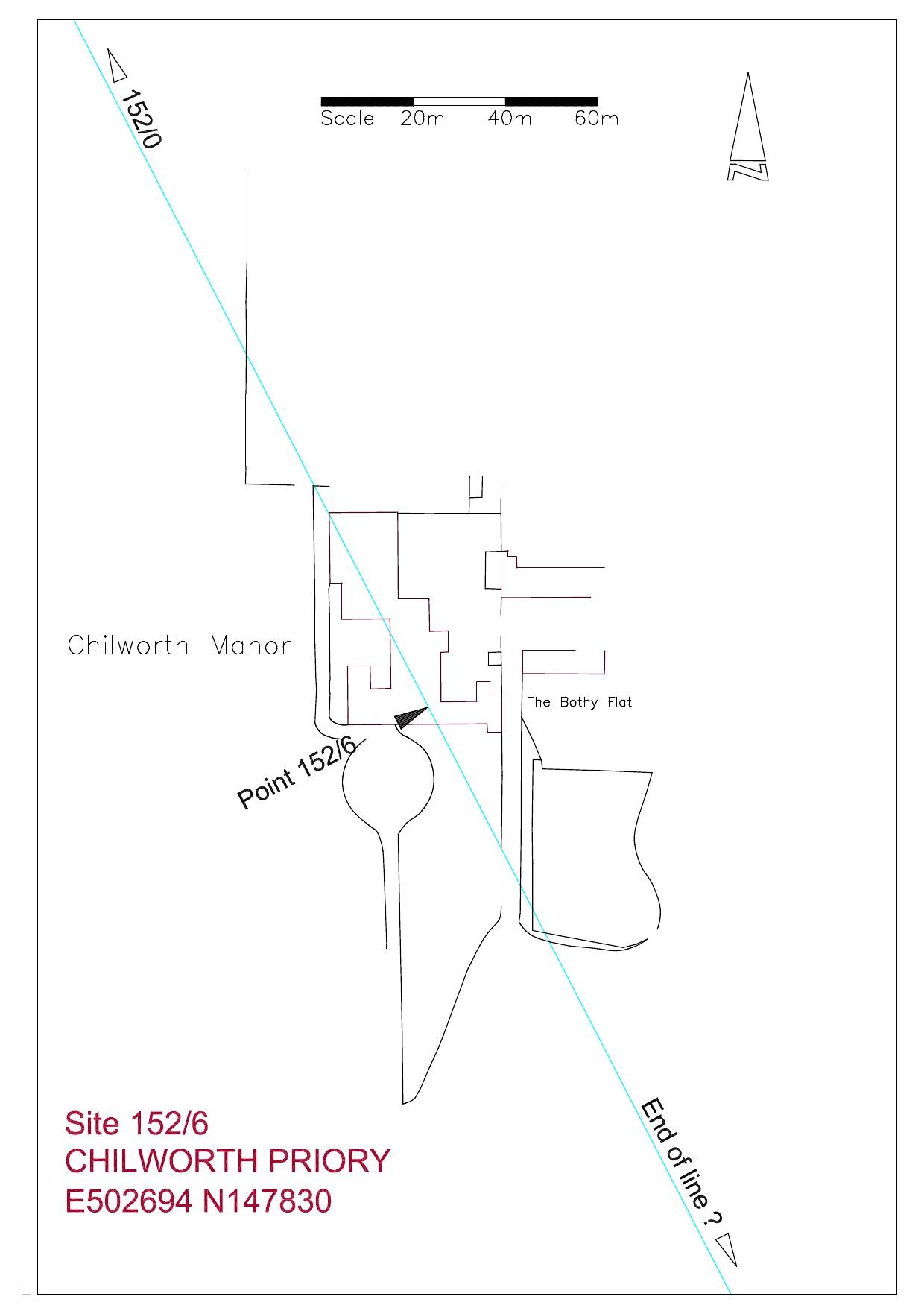 Site plan Chilworth Priory