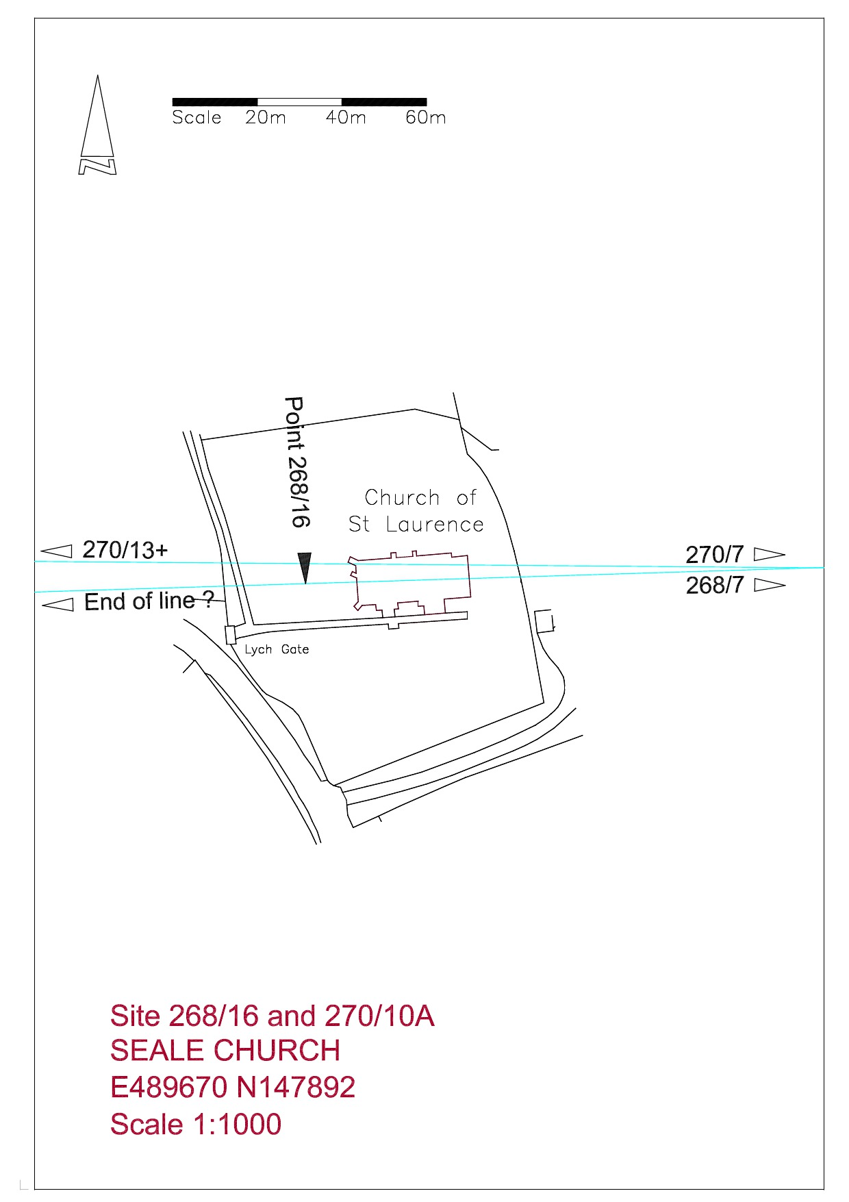 Site plan Seale Church
