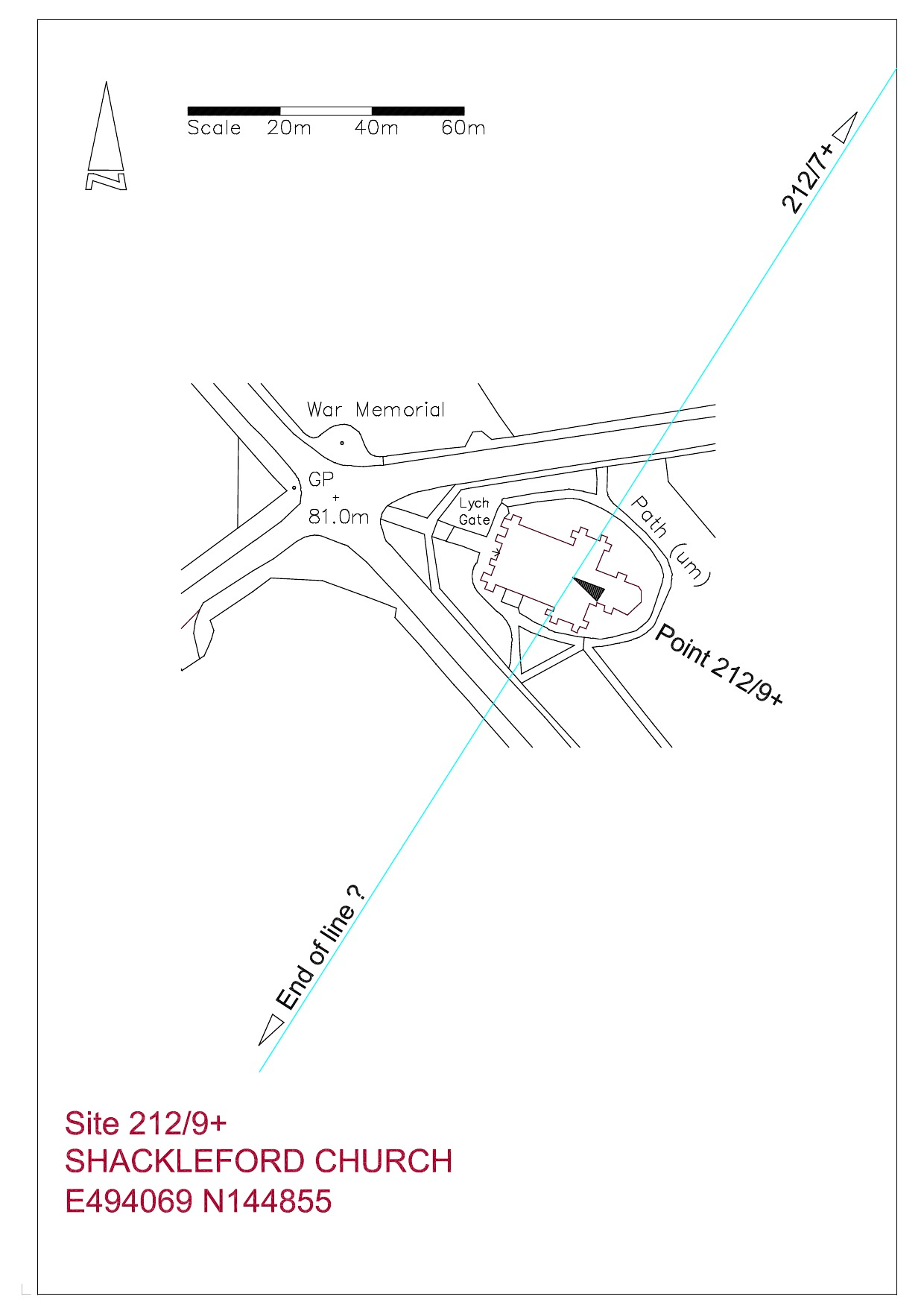 Site plan Shackleford Church