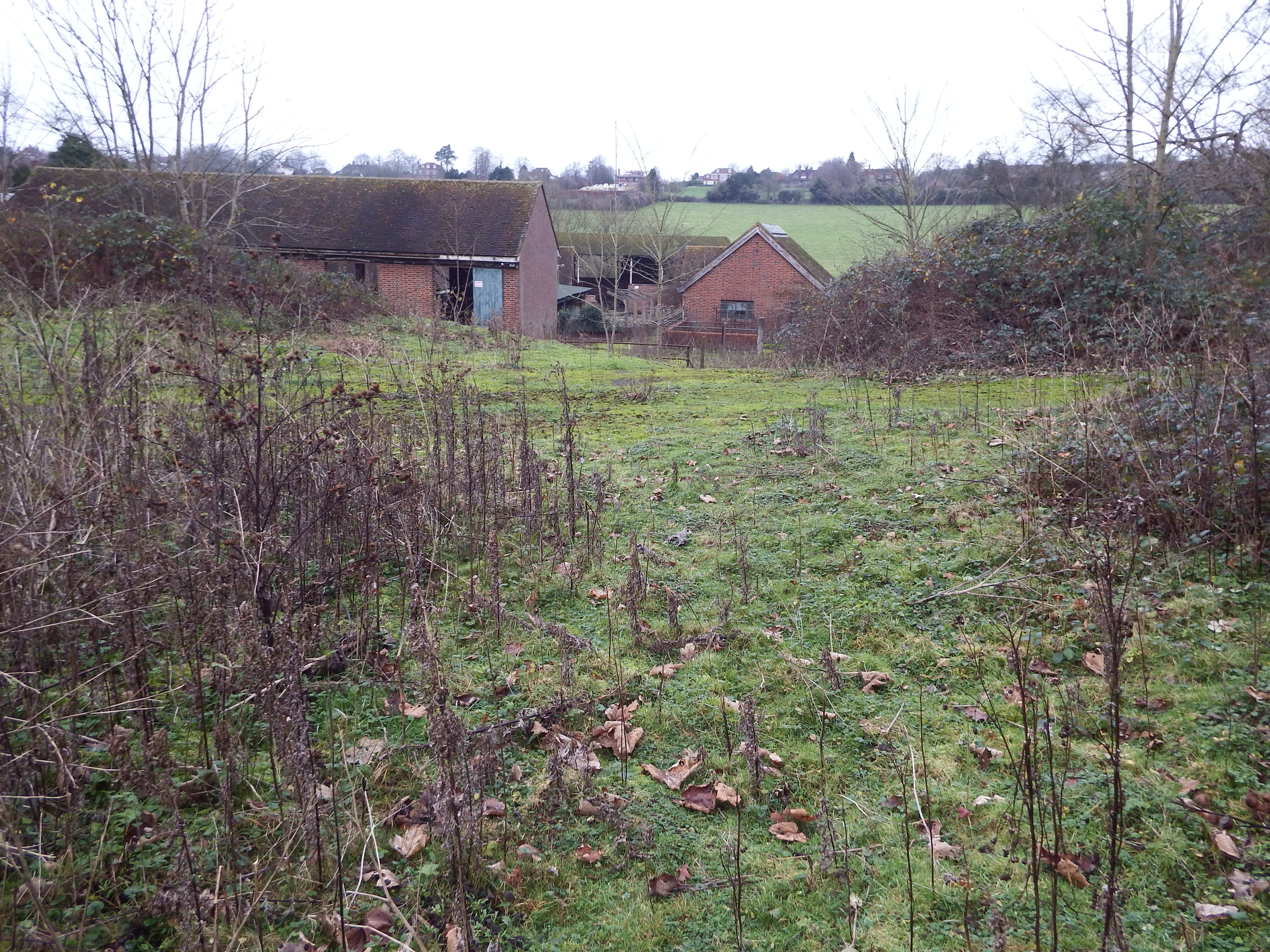 Standing on site of chapel looking north over derelict farm